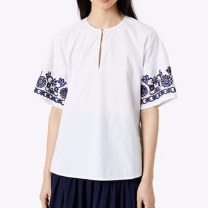 Tory Burch Amy Embroidered Top